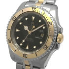 TUDOR Prince Date Mini-Sub Automatic Black Dial 73193 Yellow Gold SS Watch Used