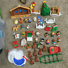 FISHER PRICE LITTLE PEOPLE CHRISTMAS LOT SANTA SLEIGH NATIVITY SKATEPOND SNOWMAN