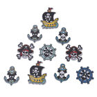 50PCs Mixed Pirate Style DIY Scrapbook Crafts 2 Holes Sewing Wooden Buttons Hot