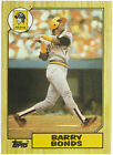 1987 #320 Pittsburgh Pirates Topps Barry Bonds Rookie - NM MINT 9.9
