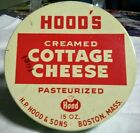 's Jadite Fire King Cottage Cheese Bowl HOOD'S Dairy Tin Lid Boston, MA
