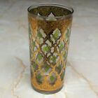 Vintage Culver Valencia Tumbler in Green and Gold