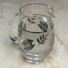 Vintage Libbey Silver Foliage Small 16 Ounce Glass Pitcher
