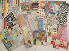 Mixed Lot of Scrapbooking supplies paper stickers letters and more