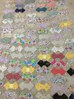 Antique Vintage 150 Bow Tie Patchwork for Quilt Blocks Hand sewn feedsack Cotton