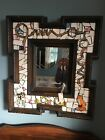 Beautiful Hand Made Mosaic Mirror With Fox, Hound, Horns And Bits w/ Reins NEW