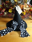 Handmade~Decorative Witches Hat~Halloween~Fall~Primitive~Black Felt~Polka Dots