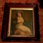 Antique Large Victorian Walnut  Carved Picture Frame 15