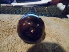 2 inch  tall   Japanese-Glass-hand-blown fishing float  Dark Wine color