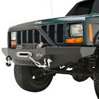 Fit for 1984 2001 Jeep Cherokee XJ Front Bumper W Winch Plate  D Ring Shackle