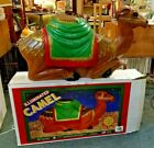 Vintage Christmas Blowmold Nativity General Foam Camel Lighted w Box 28