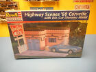 REVELL  HIGHWAY SCENES  '60 CORVETTE  WITH DIE-CUT DIORAMA MOTEL
