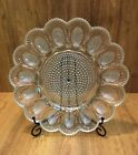 Vintage Indiana Glass Deviled Egg Plate Sparkling Hobnail Design **Holds 15 Eggs