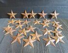 Lot of 25 Rusty Metal Barn Stars 3.75 inch 3 3/4
