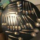 Tarnished Craft Lot Silverware~~ Holes Drilled In Handles!!