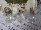 Vintage Gay Nineties Glasses Tumblers Anchor Glass Beautiful Set/3