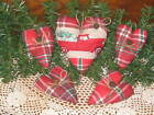 4 hearts Country Christmas Wreath making