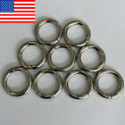 8 50Pcs Mini Round Silver Circle Carabiner Spring Snap Clip Hook Keychain New P
