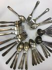 35 Pc Lot Antique to Vintage Silverplated Forks Spoons