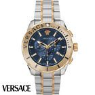 Versace VERG00618 Casual Chrono blue rose gold Stainless Steel Men's Watch NEW