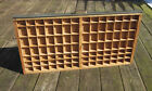 Antique Vintage HAMILTON Printers Typeset Drawer * Divided Wooden Tray * 98 cubs