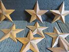 Lot of 25 Rusty 2D Metal Barn Stars 3.5 in 3 3/4