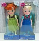 Disney Store Frozen Doll Set 2 Elsa and Anna Toddler Dolls New In Box