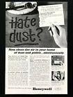 1963 Vintage Print Ad HONEYWELL thermostat dust image home house