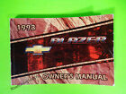 1998 Chevrolet Blazer Owner's Manual Owners Guide Book LS LT 4x4