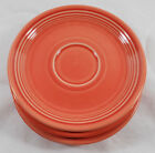 Fiestaware Saucers Set of (4) Persimmon Retired Color Homer Laughlin Company
