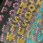 Glitter Alphabet Letter DIY Self Adhesive A Z Stickers Words Crystal Scrapbook