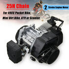 47cc 49cc 2 Stroke Engine Motor Parts For MINI Pocket Pit Dirt Bike ATV