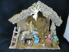 Vintage Nativity Italy Complete set 11 Figures with Angel 13 1 2 Many Details