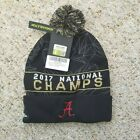 Nike Alabama Crimson Tide 2017 National Champion Pom Beanie Hat *NWT