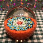 Genuine Murano Fratelli Toso Art Glass Paperweight with Original Label
