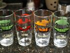 Set of Four Vintage Anchor Hocking Old Cars Tumblers Man Cave Car Fan-2234
