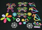 Flower Butterfly Nature Theme Embroidered Iron On Patches Set Applique Lot of 18