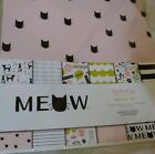 My Minds Eye Meow 12x12 Scrapbook Paper Set NEW Double Sided 2 each 6 Designs