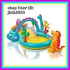 Intex Inflatable Kids 2+ Dinoland Play Center Slide Pool with Four Games