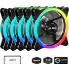 Quiet Edition High Airflow RGB Computer Led LIght For PC Case 120mm Cases 5 Pack