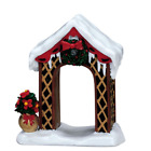 RETIRED Lemax Christmas Arbor Accessory Figure Village Town Display Set