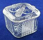 Vtg Federal Glass Vegetable 2 cup Square  Refrigerator Dish w/lid EXCELLENT COND