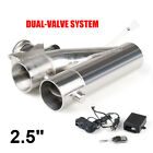 25 inch 63mm Exhaust Control E cut Out Dual Valve Electric Y Pipe with Remote