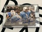 2018 Panini One Team Tandems Earl Campbell Warren Moon SSP Auto. Houston Oilers