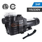 15 2HP 115 230v 2 thread NPT IN GROUND Swimming POOL PUMP MOTOR w Strainer