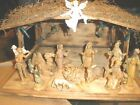 Vintage Fontanini 54 Nativity Set Spider Mark 13 Figures AND MANGER Christmas