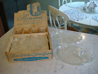 Vintage Federal Glass Hospitality Snack Set Homestead Wheat 6 trays 6 cups