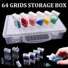 64 Grids Glitter Nails Beads Diamond Jewelry Painting Crafts Storage Boxes Cases