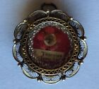 Vintage 800 Silver Reliquary Pendant Of S Teresiae