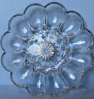 Vintage INDIANA Glass Clear Heavy Deviled Egg Plate ~ Starburst Pattern ~